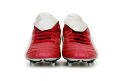 odosobneni futbol buty Zdjęcie Royalty Free