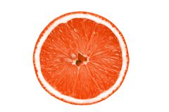 Odosobneni grapefruitowi plasterki na białym tle obrazy royalty free