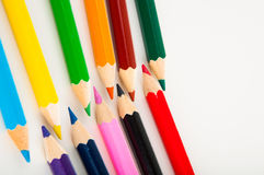 Odosobneni kolorów ołówki, żywy skład Obrazy Royalty Free