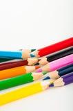 Odosobneni kolorów ołówki, żywy skład Zdjęcie Stock