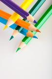 Odosobneni kolorów ołówki, biały tło Zdjęcie Stock