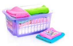 odosobneni koszy ręczniki Zdjęcie Royalty Free