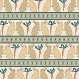 Odosobneni króliki z marchewka rocznika Retro stylu Bezszwowym Deseniowym wektorem Zdjęcia Royalty Free