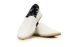 odosobneni męscy buty Obrazy Stock