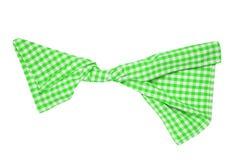odosobneni ręczniki W górę zieleni, białej w kratkę tablecloth tekstury odizolowywającej na białym tle i Kuchnia fotografia stock