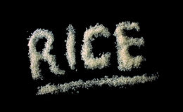 odosobneni ryż Obrazy Stock