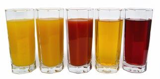 Odosobneni szkła sok na bielu Obrazy Stock