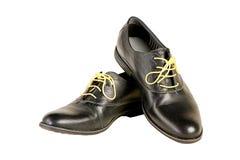 Odosobneni włoscy rzemienni buty Zdjęcia Stock