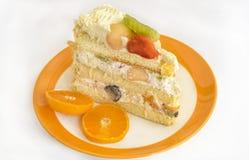 odosobnienie tortowy owocowy biel Obraz Royalty Free