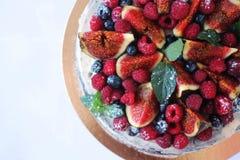 odosobnienie tortowy owocowy biel Zdjęcie Royalty Free