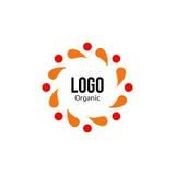 Odosobniona abstrakcjonistyczna kolorowa round kształta czerwień i pomarańczowy koloru logo Spining spirali logotyp Jesień liści  ilustracja wektor