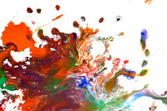 Odosobniona ampuła łata punktów kleksy pluśnięcie mieszający kolory Obrazy Royalty Free