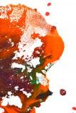 Odosobniona ampuła łata punktów kleksy pluśnięcie mieszający kolory Obrazy Stock