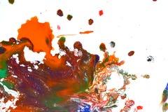 Odosobniona ampuła łata punktów kleksy pluśnięcie mieszający kolory Zdjęcie Stock