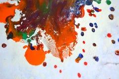 Odosobniona ampuła łata punktów kleksy pluśnięcie mieszający kolory Obraz Royalty Free