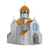 Odosobniona antyczna rzymska bazylika dla katolików wektorowych ilustracji