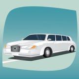 Odosobniona biała limuzyna Zdjęcie Royalty Free