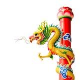 Odosobniona Chińska smok rzeźba Obraz Stock