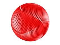 odosobniona czerwona sfera czerwony cierniowaty biel ilustracji