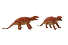 Odosobniona dinosaur zabawki fotografia Obrazy Royalty Free