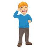 Odosobniona dzieciaka płaczu wektoru ilustracja Fotografia Stock