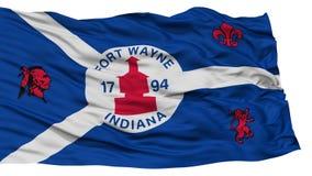Odosobniona fortu Wayne miasta flaga, Stany Zjednoczone Ameryka Zdjęcia Stock