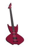 Odosobniona Gitara royalty ilustracja
