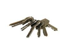 Odosobniona grupa żelazo domu klucze Obrazy Royalty Free
