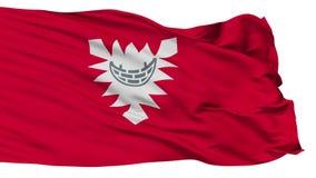 Odosobniona Kiel miasta flaga, Niemcy royalty ilustracja
