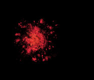 Odosobniona krwionośna plama na czerni Zdjęcie Stock