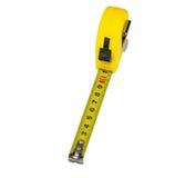odosobniona miara pomiarowego taśmy narzędzia biel kolor żółty Obraz Royalty Free