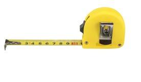 odosobniona miara pomiarowego taśmy narzędzia biel kolor żółty Zdjęcie Stock