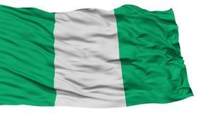 Odosobniona Nigeria flaga ilustracja wektor