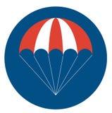 Odosobniona parashoute ikona Zdjęcia Stock