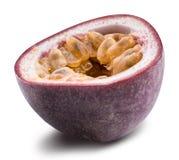 Odosobniona pasyjna owoc Maracuya odizolowywał na białym tle Zdjęcie Royalty Free