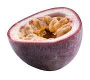 Odosobniona pasyjna owoc Maracuya odizolowywał na białym tle Obraz Royalty Free