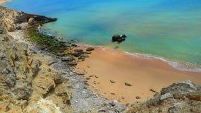 Odosobniona plaża Fotografia Stock