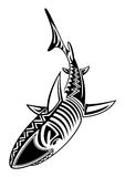 Odosobniona Plemienna tatuażu rekinu ryba Zdjęcie Stock