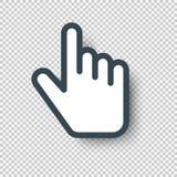 Odosobniona pointer ręki kursoru ikona również zwrócić corel ilustracji wektora Zdjęcie Stock