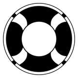 Odosobniona ratownik ikona ilustracji