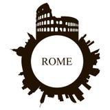Odosobniona Rzym linia horyzontu royalty ilustracja