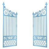Odosobniona stal dekorujący barok bramy otwarty wektor royalty ilustracja