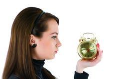 odosobniona zegar kobieta Fotografia Stock