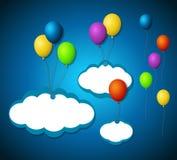 Odosobnione balonowe etykietki Fotografia Stock