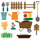 Odosobnione ogrodowe ikony Obraz Stock