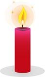 Odosobnione płonące świeczki na białym tle Ilustracja Wektor