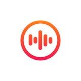 Odosobnionego głosu znaka ikony wyrównywacza tomowego logotypu wektorowy projekt Zdjęcie Royalty Free