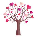 odosobnionego loga miłości przedmiota znaka drzewny warianta wektor Zdjęcie Stock