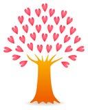 odosobnionego loga miłości przedmiota znaka drzewny warianta wektor Fotografia Stock
