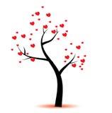 odosobnionego loga miłości przedmiota znaka drzewny warianta wektor Zdjęcia Stock